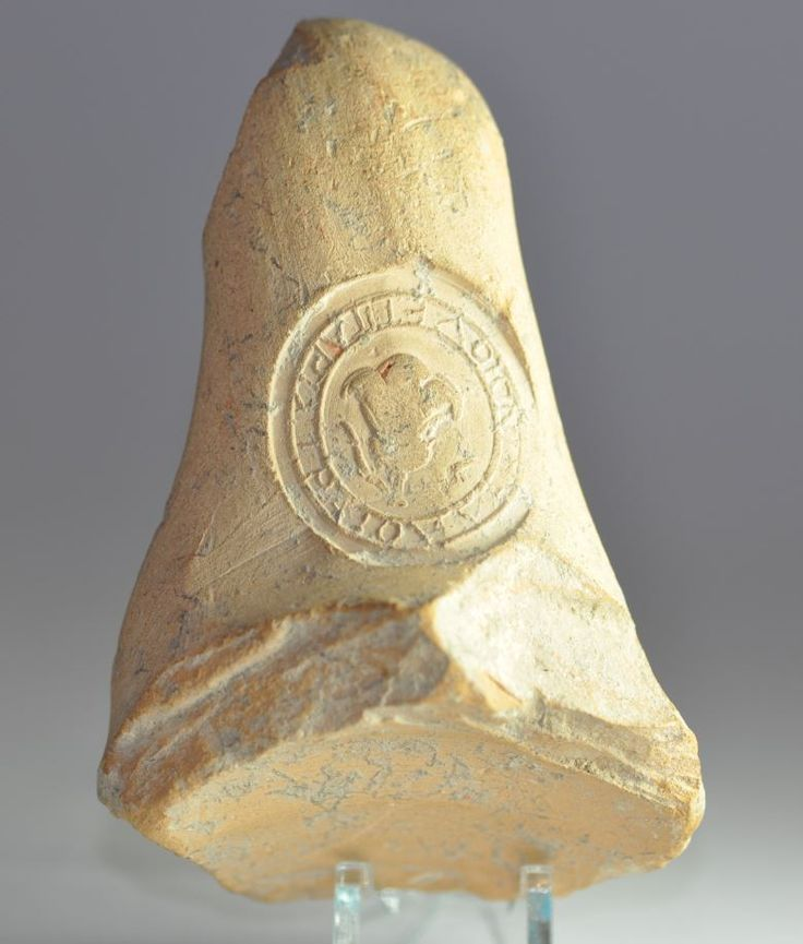 Greek amphora handle seal, 3rd century B.C. Private collection