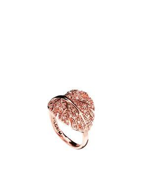 Pilgrim Rose Gold Leaf Ring