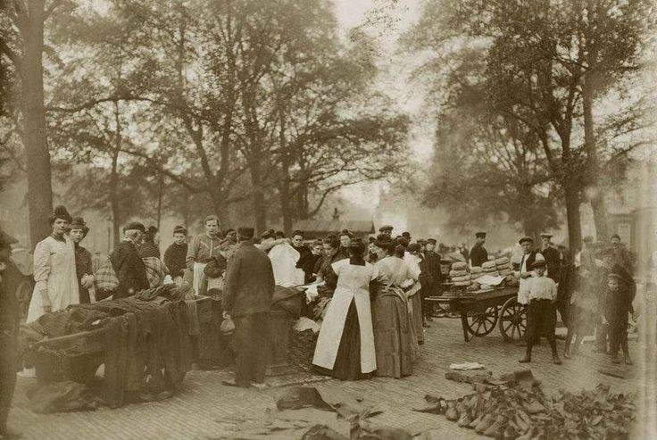 Amsterdam, 1910 Jordaan Noordermarkt rommelmarkt