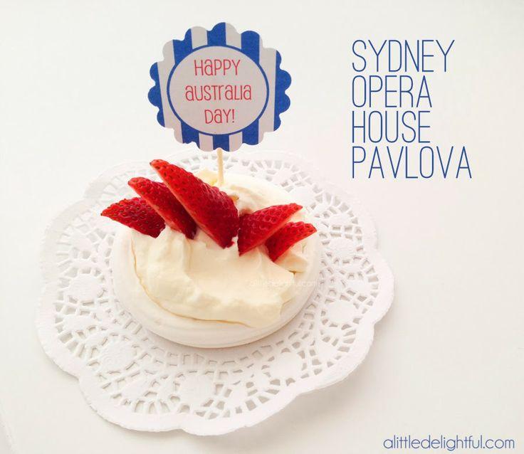 a little delightful: 10 Australia Day crafts and activities - opera house pavlova dessert