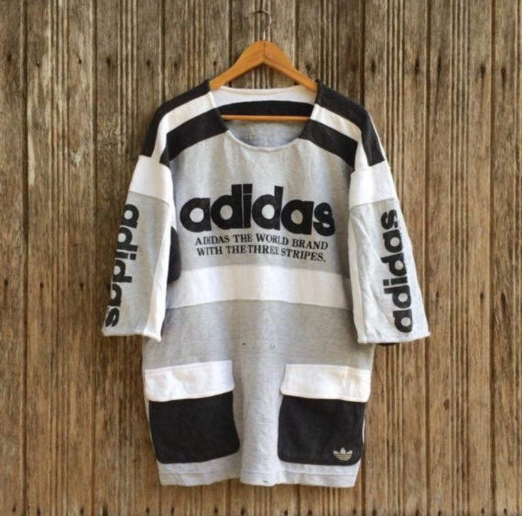 Adidas Vintage Adidas Spell Out, 2 Pocket, Large Size Size US L / EU 52-54 / 3
