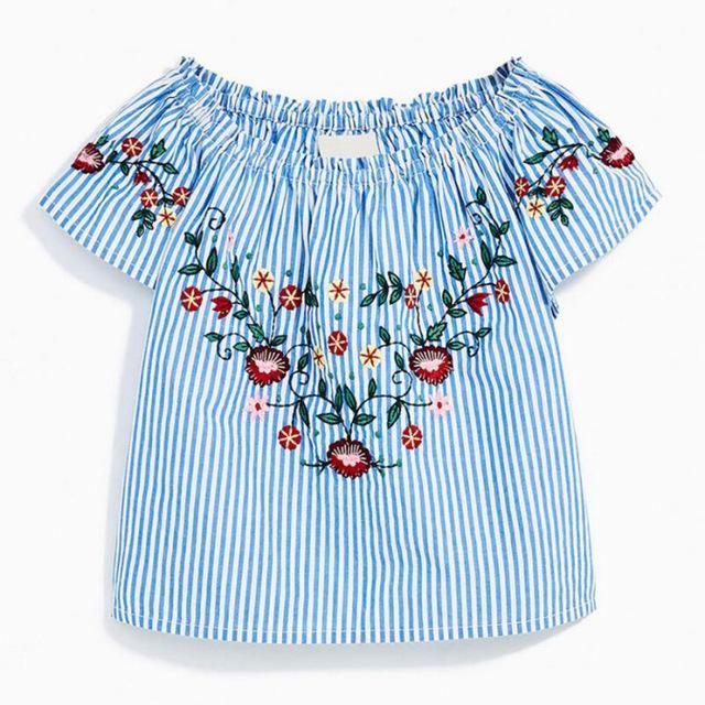Next Kinds Girl Summer Top Cotton GIRL/'S top dress flower Embroidery
