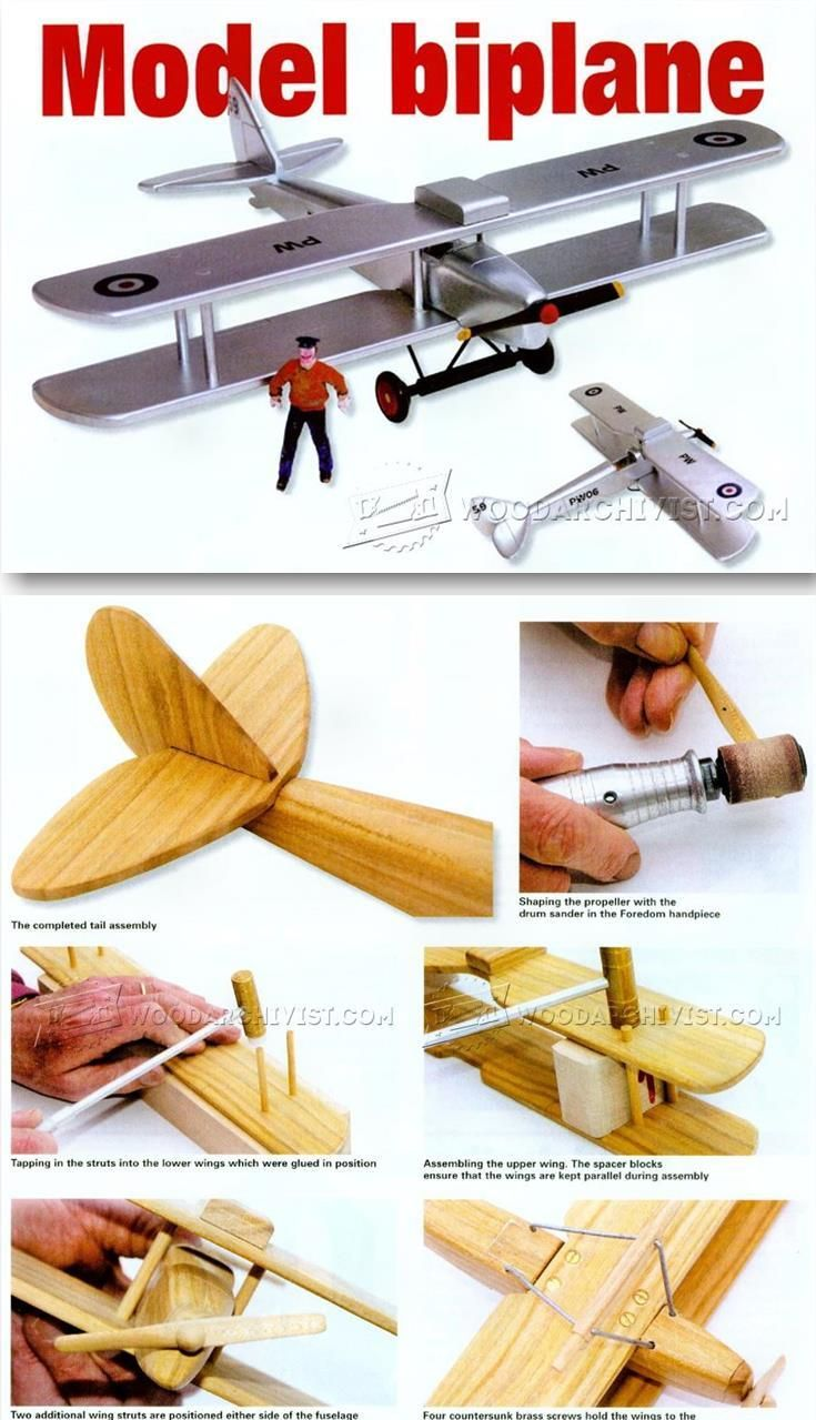 Model Biplane Plans - Children's Wooden Toy Plans and Projects   WoodArchivist.com