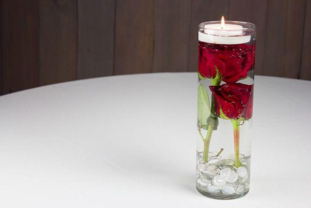 Submerged flowers centerpiece diy tutorial