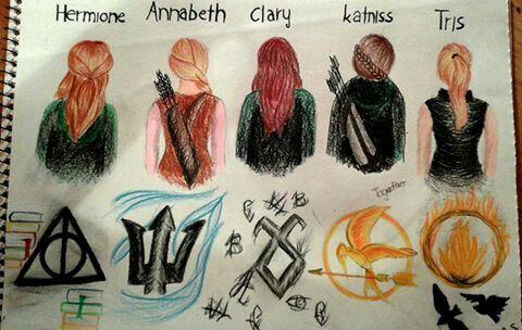 Hermione~Annabeth~Clary~Katniss~Tris...
