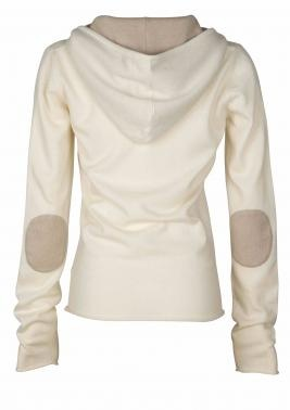 Banjo and Matilda Cashmere Hoodie with Elbow Patches