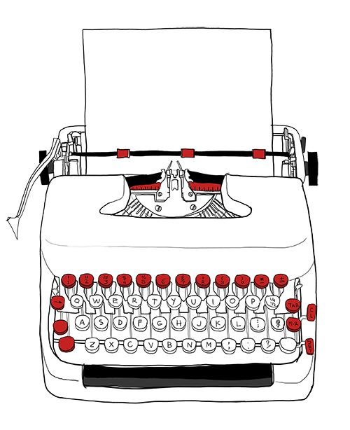 527 best Typewriters illustrations images on Pinterest