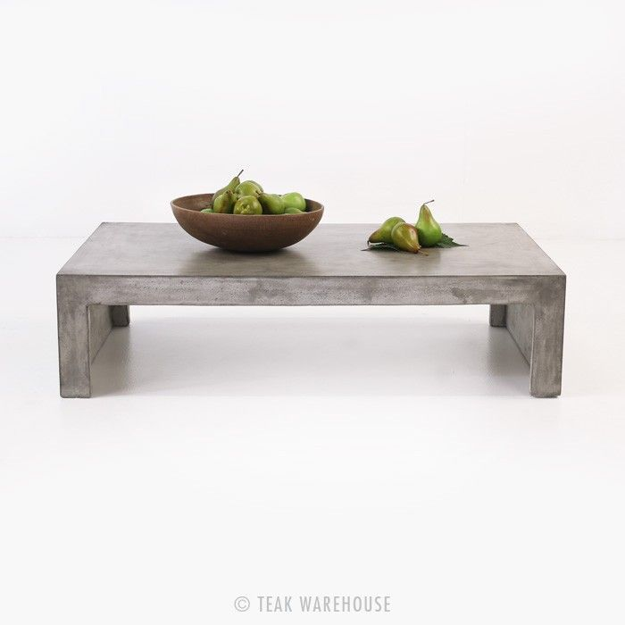 Exceptional Blok Concrete Waterfall Coffee Table   Coffee Tables   Accessories