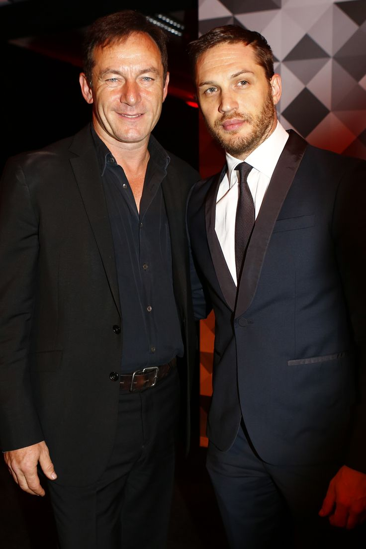 Jason Isaacs and Tom Hardy at the Moet British Independent Film Awards, December 2013