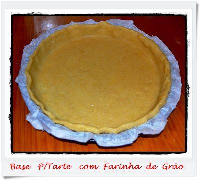 Base para Tarte com Farinha de Grão