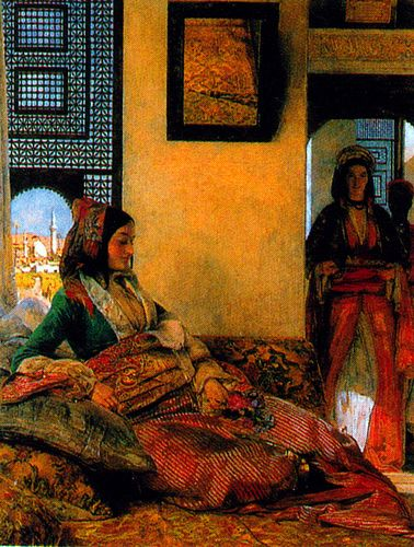 """""""Life in the Harem"""" by John Frederick Lewis"""
