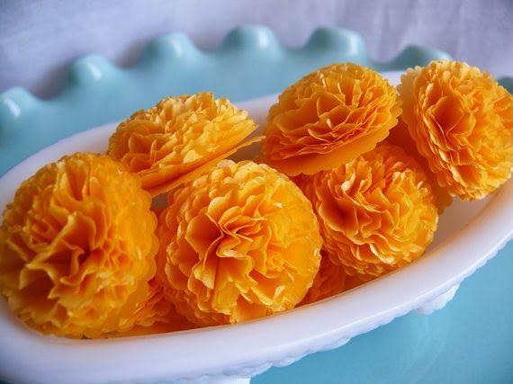 Tissue paper marigold diwali | 40+ Diwali Ideas Cards, Crafts, Decor, DIY | India Crafts Glitter crafts foam Diwali