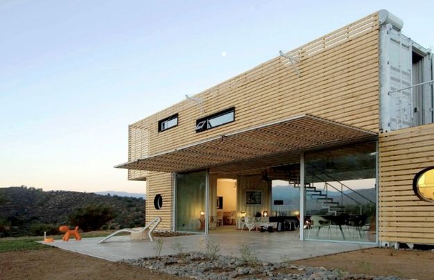 That staircase looks almost like it's floating. | 23 Surprisingly Gorgeous Homes Made From Shipping Containers