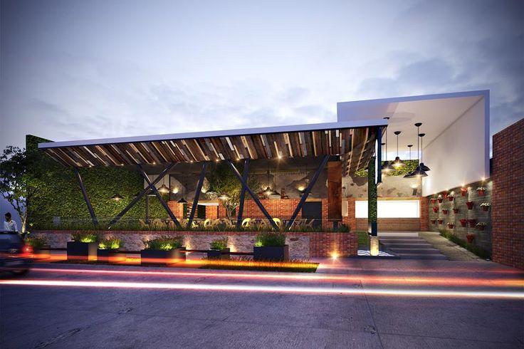 Best 25 restaurant exterior design ideas on pinterest for Fachadas de restaurantes modernos