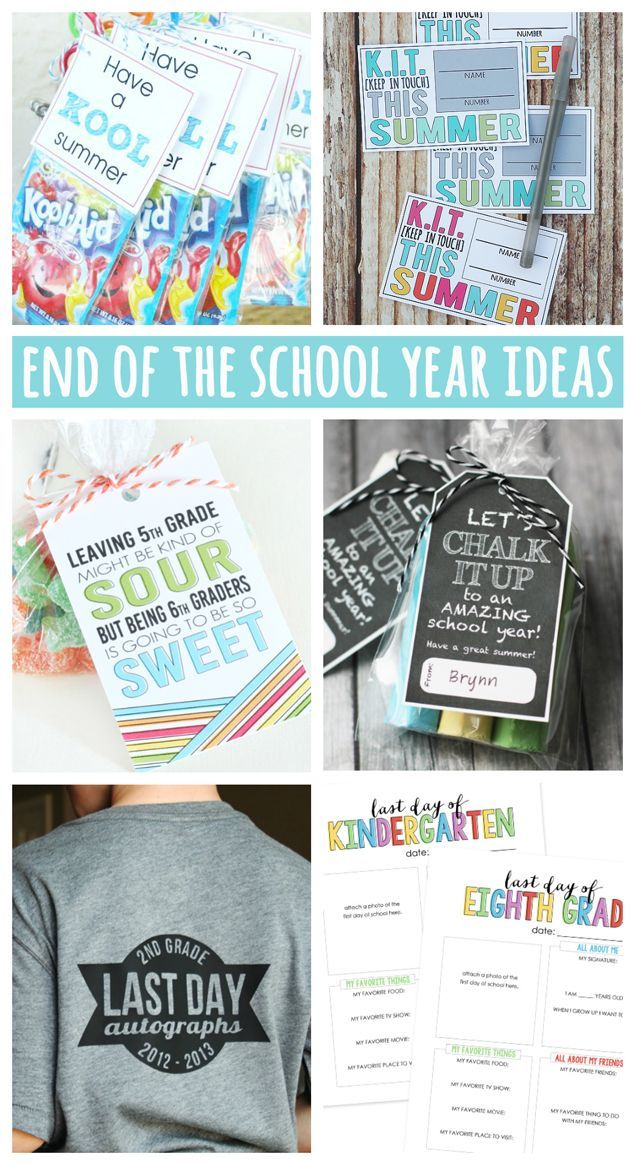 End of the School Year Ideas   Lots of fun classmate gift ideas, traditions and ways to keep in touch over summer.