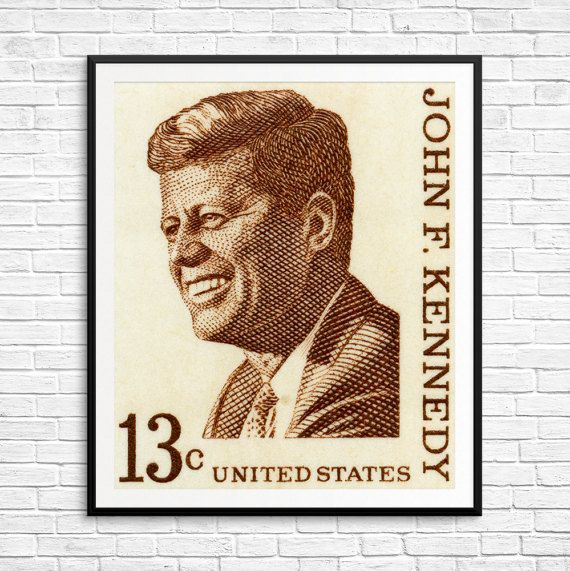 President's Day John F Kennedy JFK President by USAStampArt