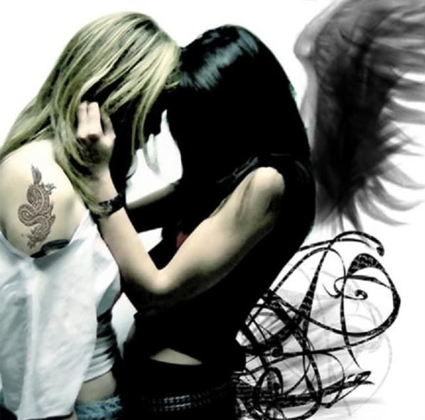 girl on girl gothic angels