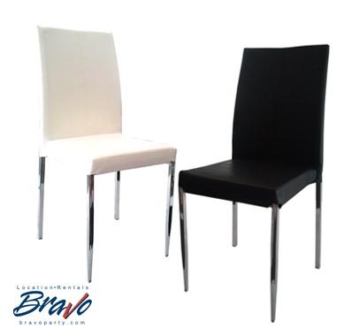 Bravo est fier de vous présenter notre toute nouvelle arrivée. Une chaise Cuir et Chrome, c'est difficile d'avoir plus chic que ça !    Bravo is proud to introduce our latest addition, Difficult to be more classy than a leather and chrome chair!