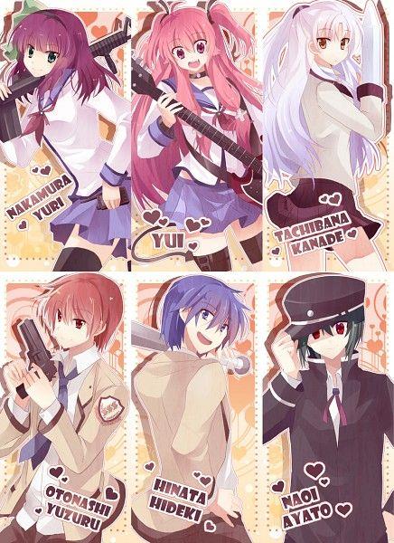 Angel Beats! - Yuzuru Otonashi, Hideki Hinata, Ayato Naoi, Yui, Yuri Nakamura, & Kanade Tachibana