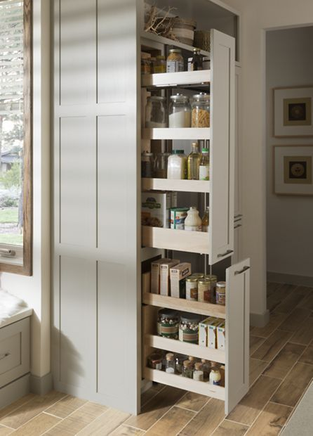 Tall Pull-out Storage Cabinet... our Medallion cabinets! Want!