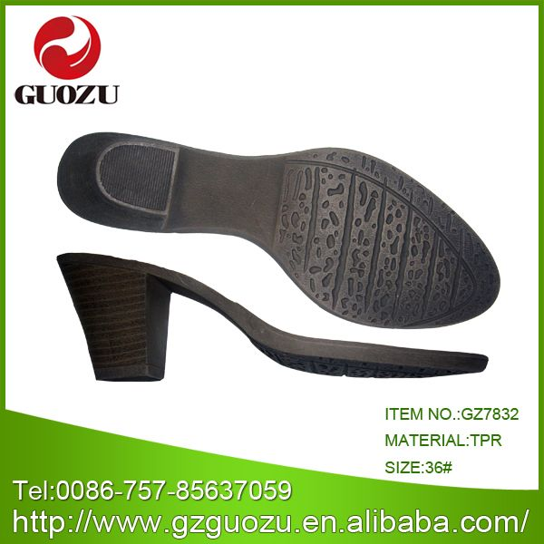 China TPR Thick Heel Part for Shoes - China Tpr Sole, Thick Heel