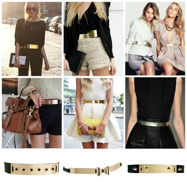 I'm a little obsessed with this gold plated belt trend ♥