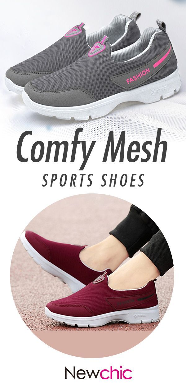 8119109243a0 Women Sports Shoes Comfy Mesh Round Toe Slip On Shoes. sports womemshoes