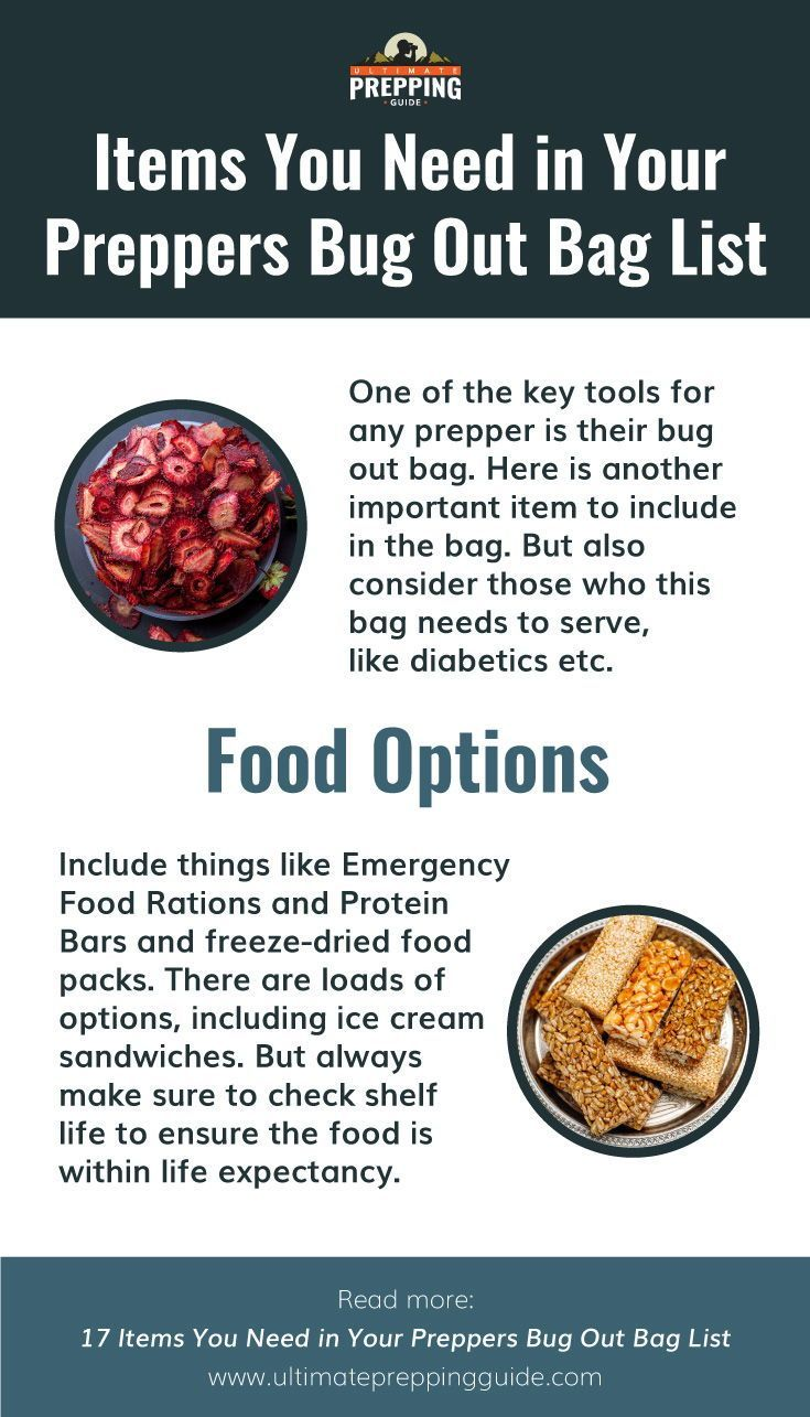 17 Items You Need In Your Preppers Bug Out Bag List In 2020 Bug Out Bag Freeze Drying Food Emergency Food