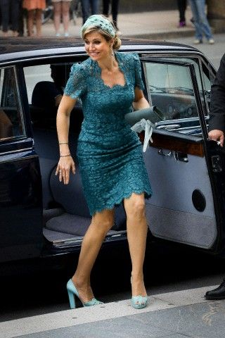Queen Maxima of the Netherlands arrives for the visit of the Danish Prime minister at Christiansborg in Denmark, 25 June 2013.