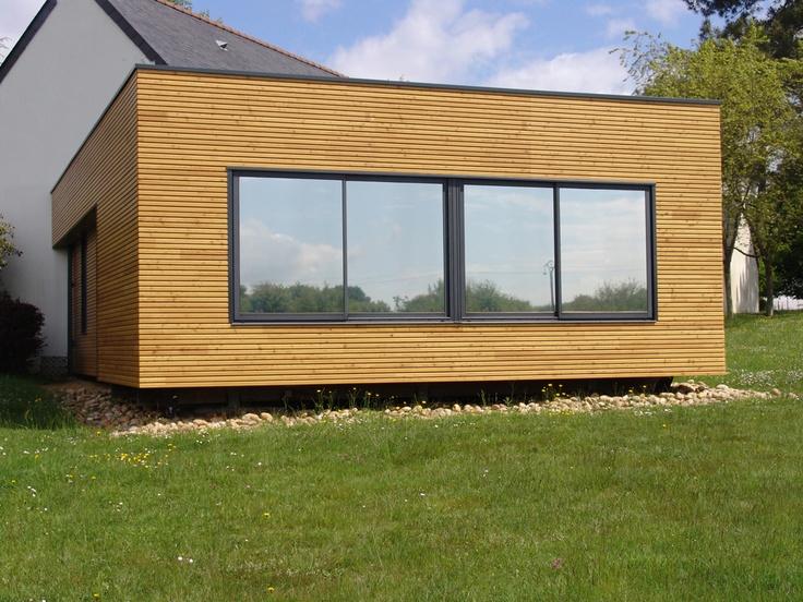 Module en bois d 39 extension de maison extenbois pinterest for Maison bois module