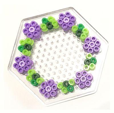 Floral wreath hama perler beads by theasvendsen