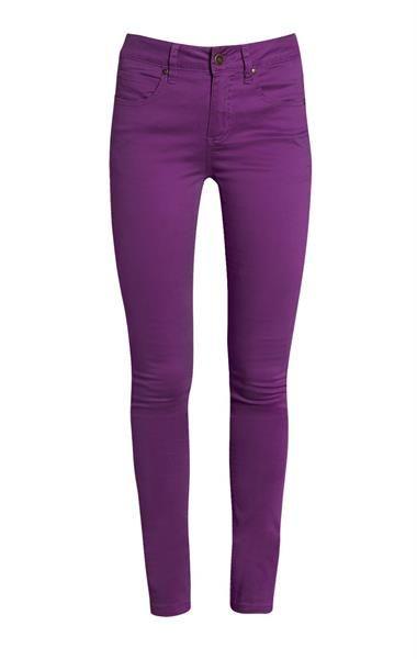 Узкие штаны фиолетового цвета