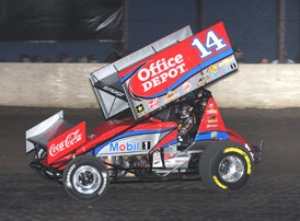 Tony Stewart, king of the Slide Job! - looking forward to seeing my first Sprint car race this August!