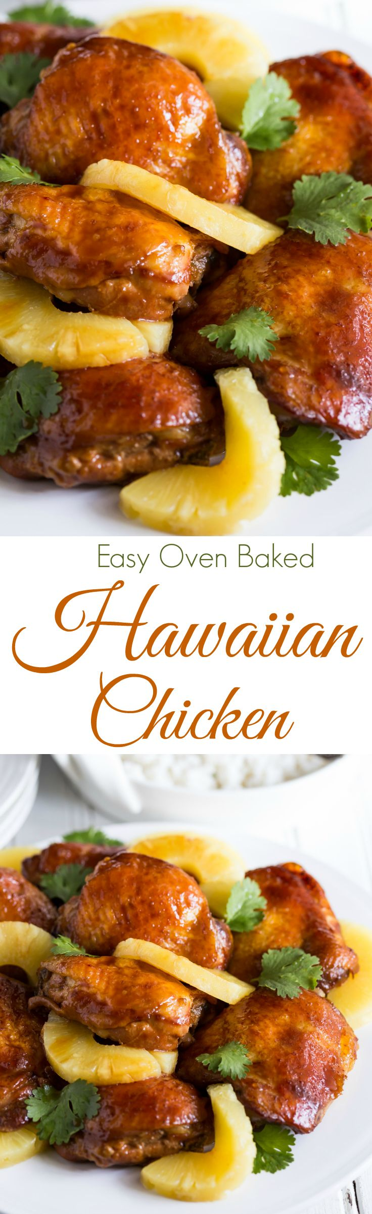 A simply gorgeous, sticky, tasty, Baked Hawaiian Style Chicken Thighs recipes that will leave you begging for more! It's gluten free and dairy free