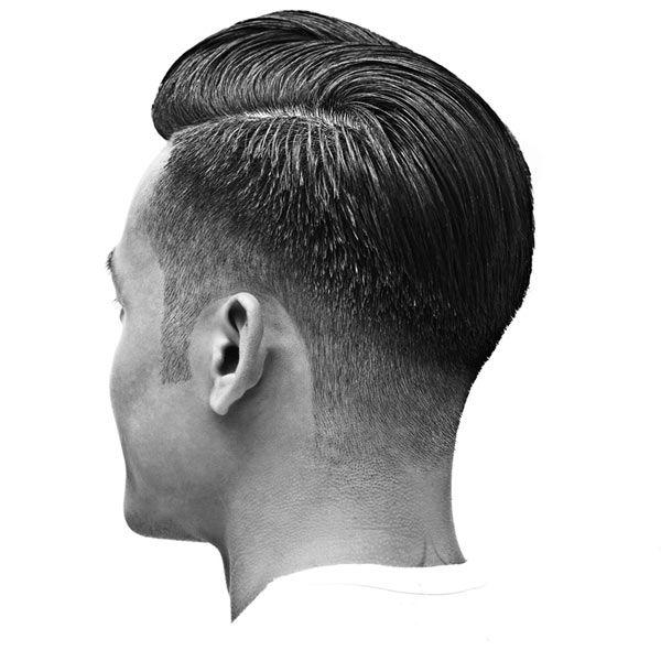 Fade on an angle by Reuzel Pomade