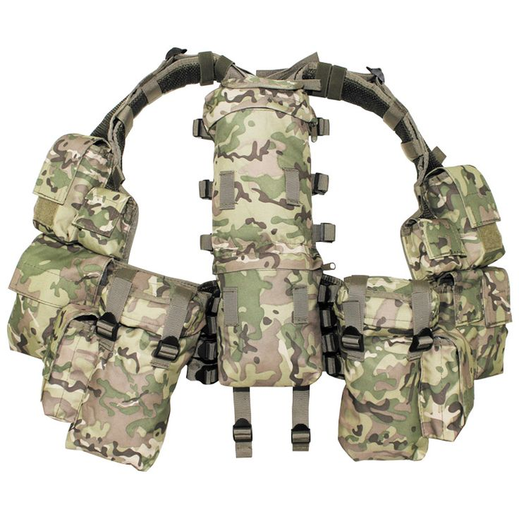 MFH ARMY COMBAT TACTICAL PATROL SOUTH AFRICAN ASSAULT VEST SET OPERATION CAMO