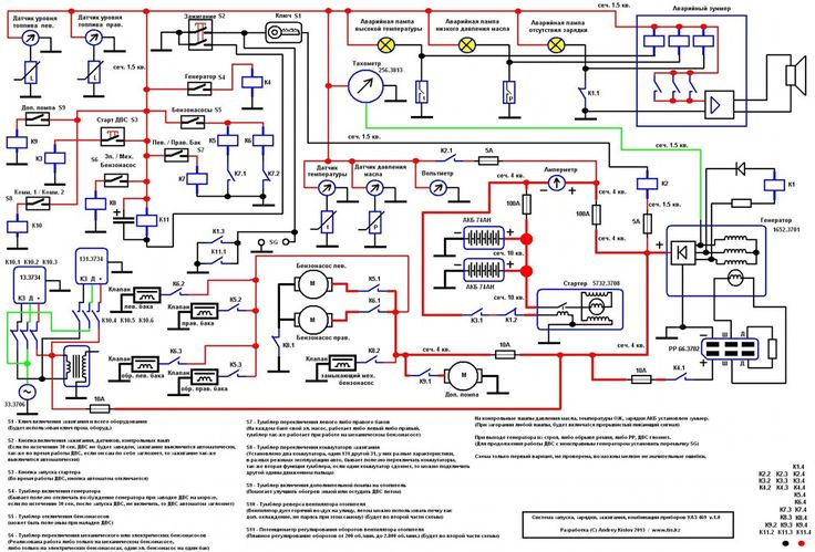 Электрика — Схема принципиальная проводки ч.1 версия.1.0