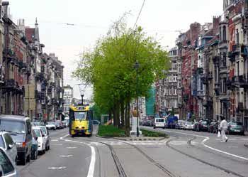 Light rail / other traffic segregation in Brussels