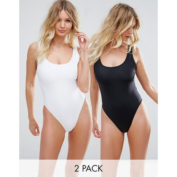 ASOS FULLER BUST Supportive Scoop Front Swimsuit Multipack DD-G (56 CAD) ❤ liked on Polyvore featuring swimwear, one-piece swimsuits, multi, swimsuit swimwear, swim costume, swim wear, swim bathing suits and open-back one-piece swimsuits