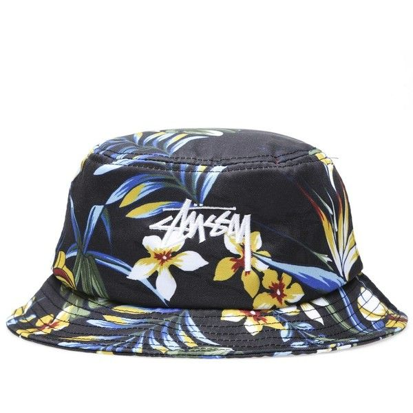 Stüssy Stussy Paradise Bucket Hat (1.547.610 VND) ❤ liked on Polyvore featuring men's fashion, men's accessories, men's hats, hats и black