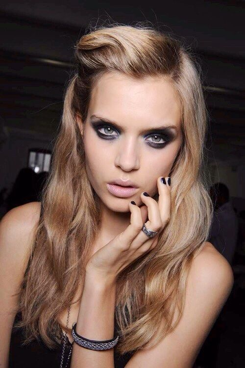 : Dark Nails, Hair Colors, Eye Makeup, Fashion Models, Dark Eye, Pitch Black, Victoria Secret, Smoky Eye, Smokey Eye