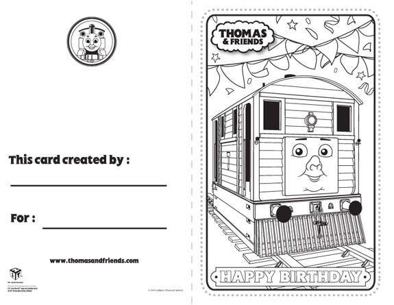 Thomas & Friends: Activities Printable Birthday Cards ...