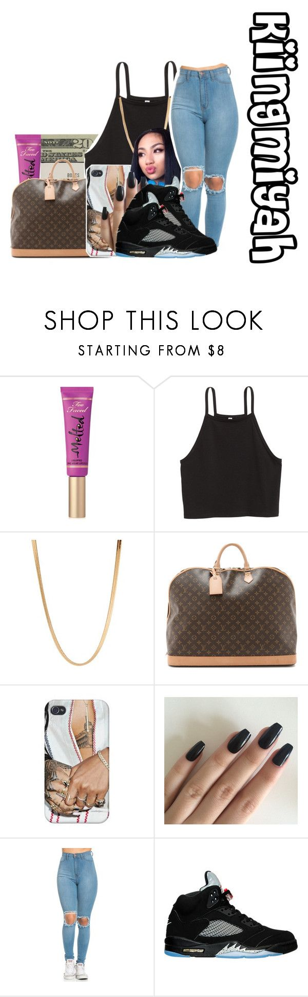 """Only for you"" by kiingmiyah ❤ liked on Polyvore featuring Too Faced Cosmetics, Jack Spade, ASOS and NIKE"