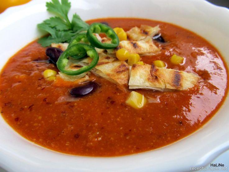 Mexická polévka.