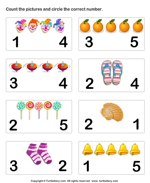 Count pictures - TurtleDiary.com | Preschool math ...