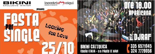 Domenica 25 ottobre 2015 serata speciale al Bikini Cattolica con la festa dei Single. In consolle un super ospite della musica, Dj Ralf