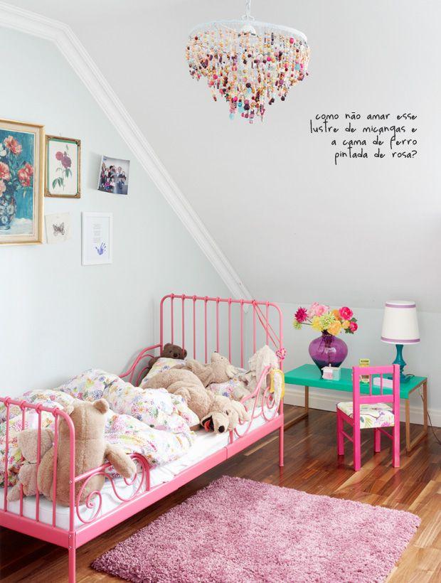 pink bed #decor #quartoinfantil
