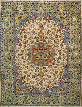 """Esfahan Persian Rug, Buy Handmade Esfahan Persian Rug 9' 10"""" x 12' 10"""", Authentic Persian Rug"""