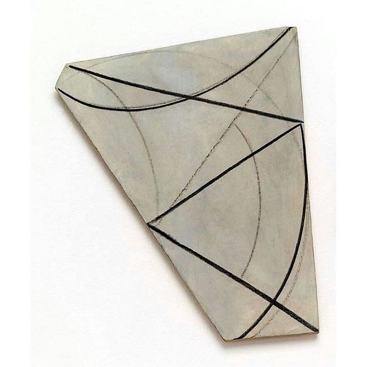 """verylargebuildings: """"Bill Jensen; XVII, 1975, plaster, charcoal, white lead on canvas on shaped wood """""""