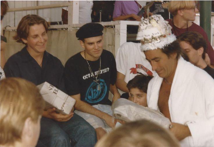 Kenny Ortega (director/ choreographer) and the boys